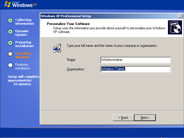 Personalize Windows XP