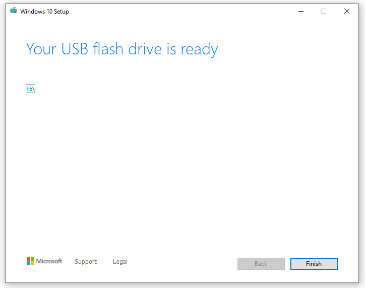 Bootable USB flash drive created successfully