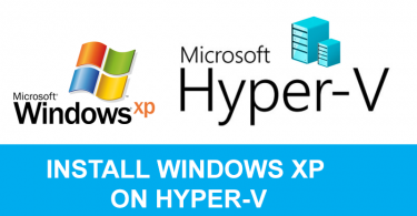 Install Windows XP on Hyper-v