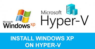 Install Windows XP on Hyper-v