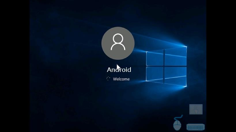 Windows 10 welcome page inside JPCSIM emulator