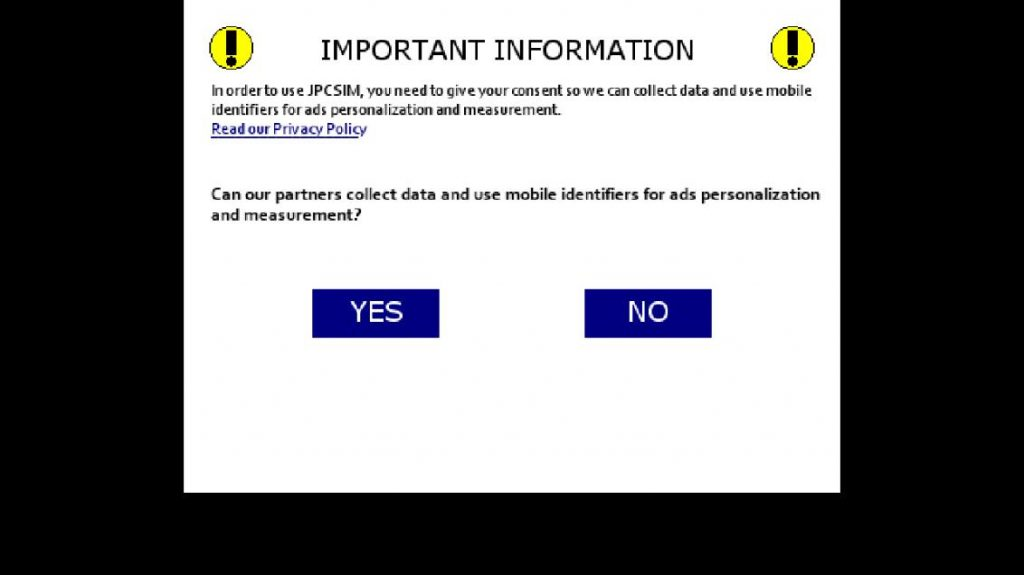Notice from JPSCIM about data collection