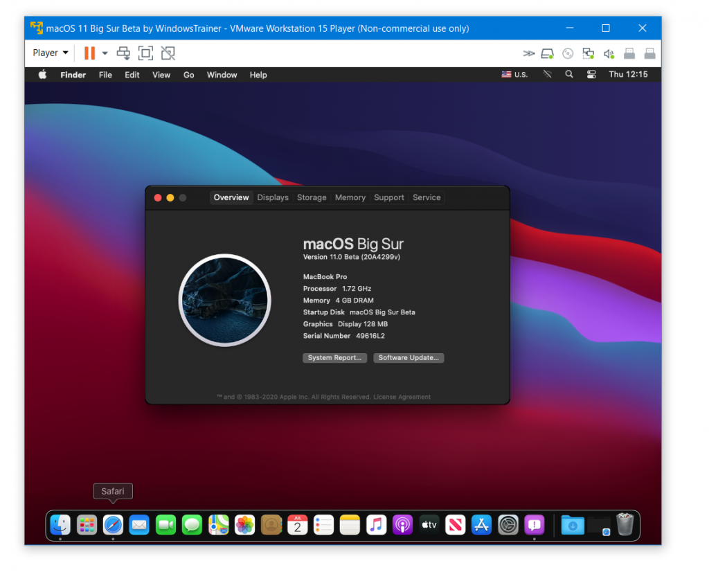 macOS Big Sur installed Successfully